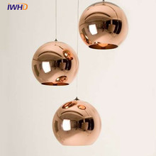 IWHD Nordic LED pendant light Modern For Lighting Creative Glass Pendant lighting Fixtures Lamparas Dining Room Bedroon Lamps