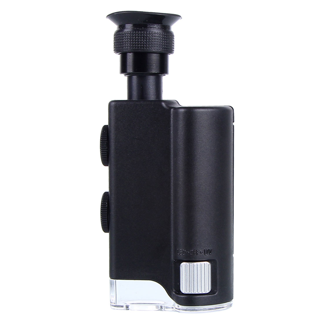 Hot Mini Portátil de Bolso Microscópio 200X ~ 240X Portátil CONDUZIU a Luz Da Lâmpada Lupa Zoom Lente Lupa Lupa Lupa de Bolso