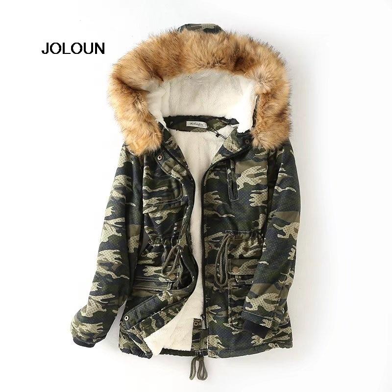 Cappuccio Donne Spessore Del Delle Parka Outwear Giallo Foderato Cappotto  Sottile Pile colore Camuffamento Lungo Inverno Verde Con ... 8bc709bc63e