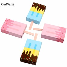 OurWarm 10Pcs Ice Cream Shape Gift Boxes font b Baby b font Shower Birthday Party Candy
