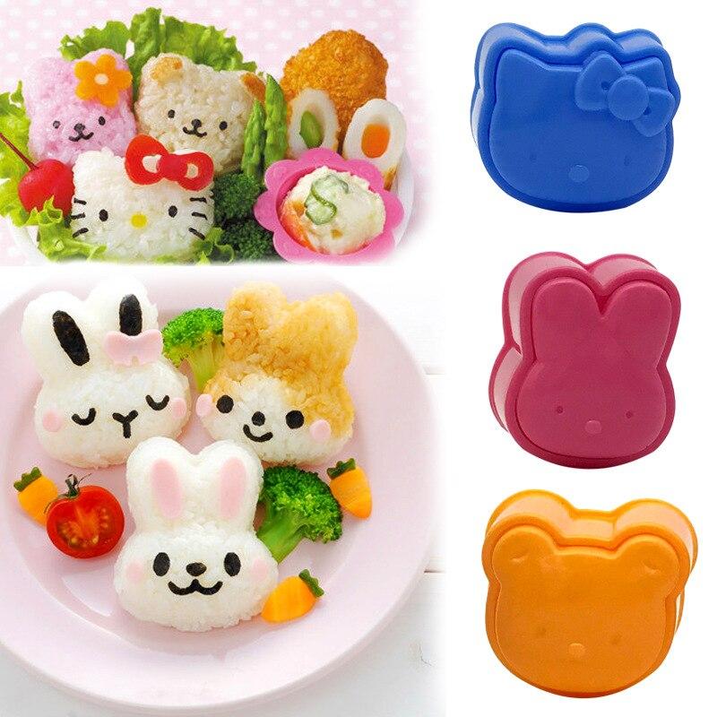 3Pcs Cute Cartoon Sushi Nori Rice Mold Decor Cutter Bento Maker Sandwich DIY Tool Kitchen Accessorie Home Baking Nori Sushi Tool
