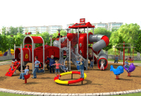 CE,ISO,TUV professional EXPORTED outdoor playground garden slide fire control type amusement play structure YLW OUT171032