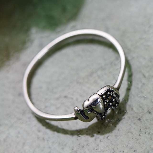 Sterling Silver Elephant Ring 1