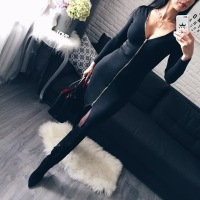 Young17 Autumn Dress Women 2018 Club Black Backless Zipper Office Sexy Clothes Knitted Party Winter Fall Bodycon Ladies Dress 5