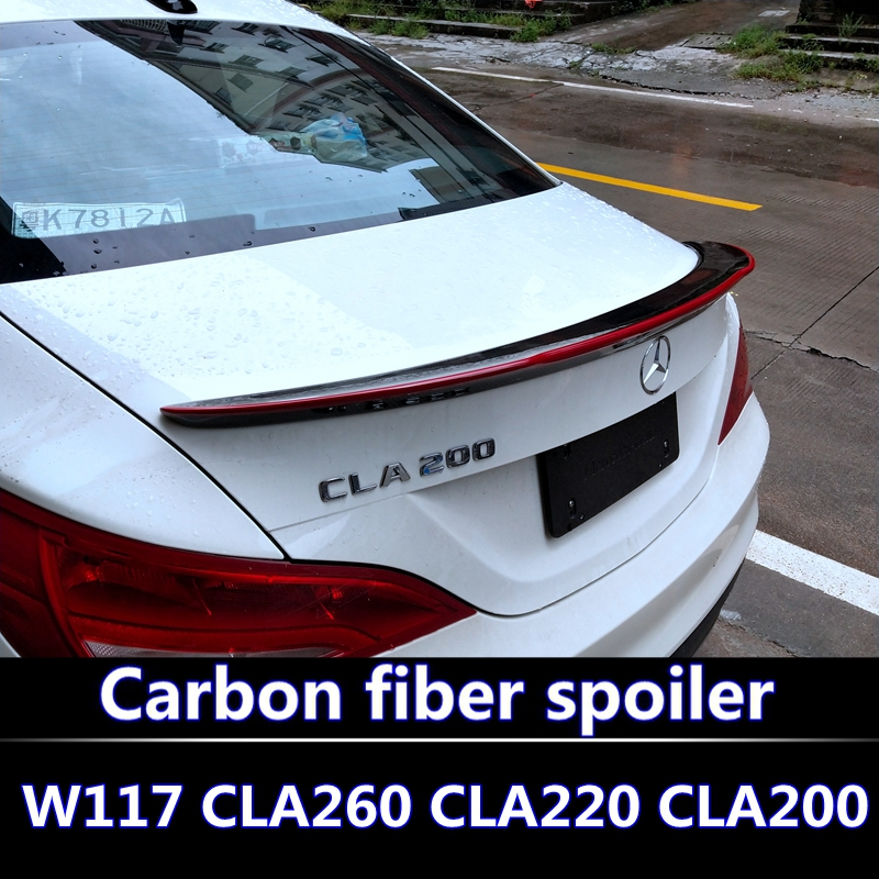 For Mercedes CLA W117 Carbon Spoiler For  CLA200 CLA220 CLA260 spoiler For CLA High quality carbon fiber spoiler rear wing