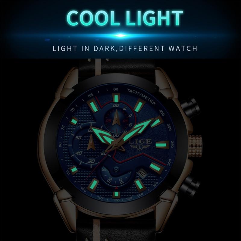 LIGE Watch Տղամարդկանց նորաձևության - Տղամարդկանց ժամացույցներ - Լուսանկար 5
