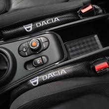 1 pièces fibre de carbone étanche protection siège Gap bâche de voiture Pad pour Dacia Duster Logan Sandero Lodgy tampons accessoires voiture style