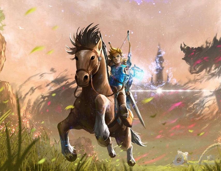 Pittura del Fumetto di diamante The Legend of Zelda: Ocarina of Time Respiro Della Natura Selvaggia Arte Pittura Cavallo landschap Casa Della Decorazione Della Parete