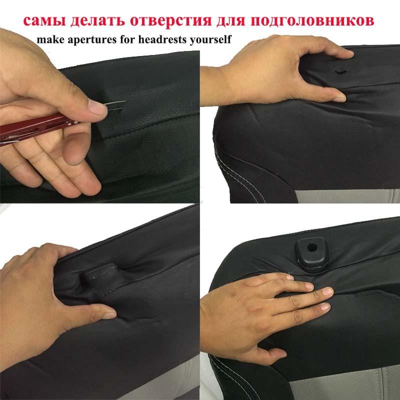 1 ensemble Nouveau de voiture housse de siège en cuir Pu matériel fabriqué par la housse de siège Noir couvre siege de voiture universelle pour la voiture volvo pour la voiture nissan - 5