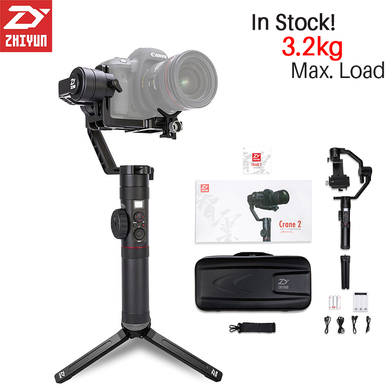 Zhiyun Crane 2 3-Axis Handheld Gimbal 3 axis Video Camera Gyro Stabilizer for Canon Nikon Sony Panasonic DSLR Mirrorless Camera