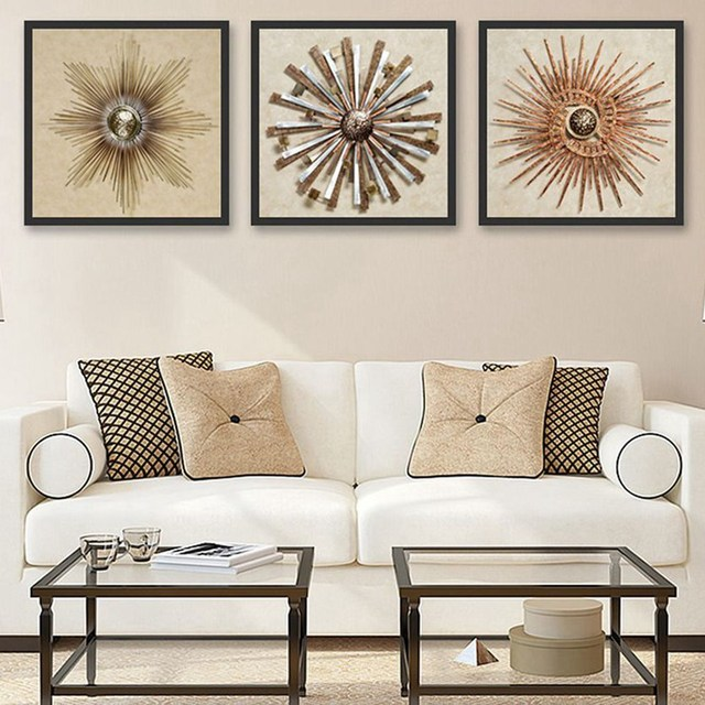 Superieur Retro Minimalist Living Room Decoration Painting, Creative Spray Painting,  3D Bedroom Wall Paintings, Murals No Frame W198