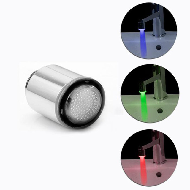 New LED Faucet Light Tap Nozzle RGB 7Colors Change Blinking Temperature Faucet Aerator Water Saving Kitchen Bathroom Accessories