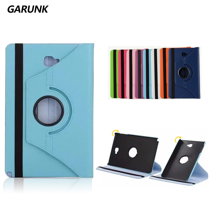 best service 0aa83 eabf2 US $7.11 5% OFF|Tablet Case for SAMSUNG Galaxy Tab A A6 10.1'' with S Pen  P580 P585 GARUNK PU Leather 360 Degree Rotating Stand Cover Fundas-in ...