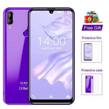 Перейти на Алиэкспресс и купить Мобильный телефон OUKITEL C16 Pro, 5,71-дюймовый экран 19:9 Waterdrop, Android 9.0, MT6761P 3 ГБ+ 32 ГБ, сканер отпечатков пальцев и лица, 5 В/1 A, 4G смартфон