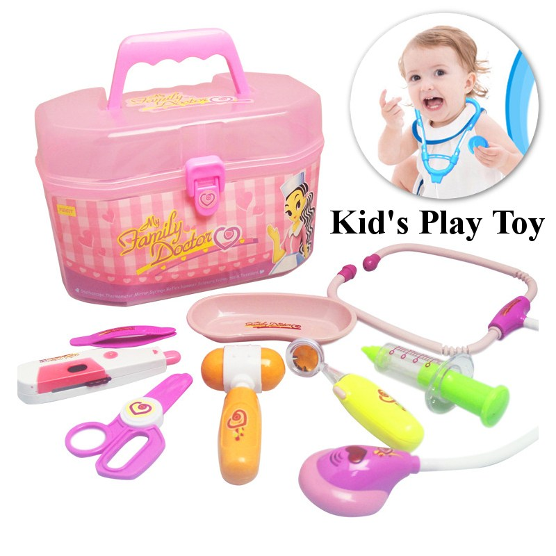 New Doctor Medical Play Set Kit Education Role Play Baby Educational Box Light Role Pretend Classic Toy Birthday Gift For Girl
