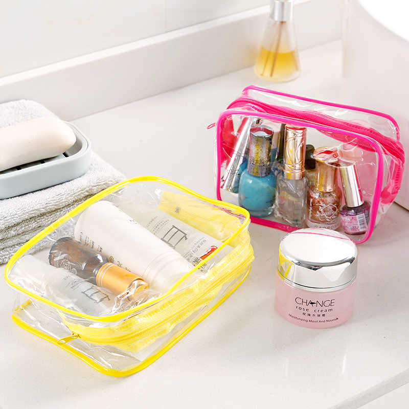 Storage Bags Portable transparent waterproof wash bag travel cosmetics sundries storage bag multi-function plastic storage bag
