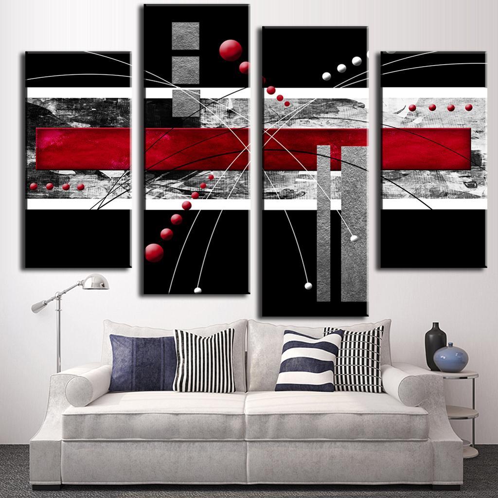 Aliexpress Com Buy 4 Panels Modern Printed Coffee Canvas: Aliexpress.com : Buy 4 Pcs/set Abstract Wall Art Painting