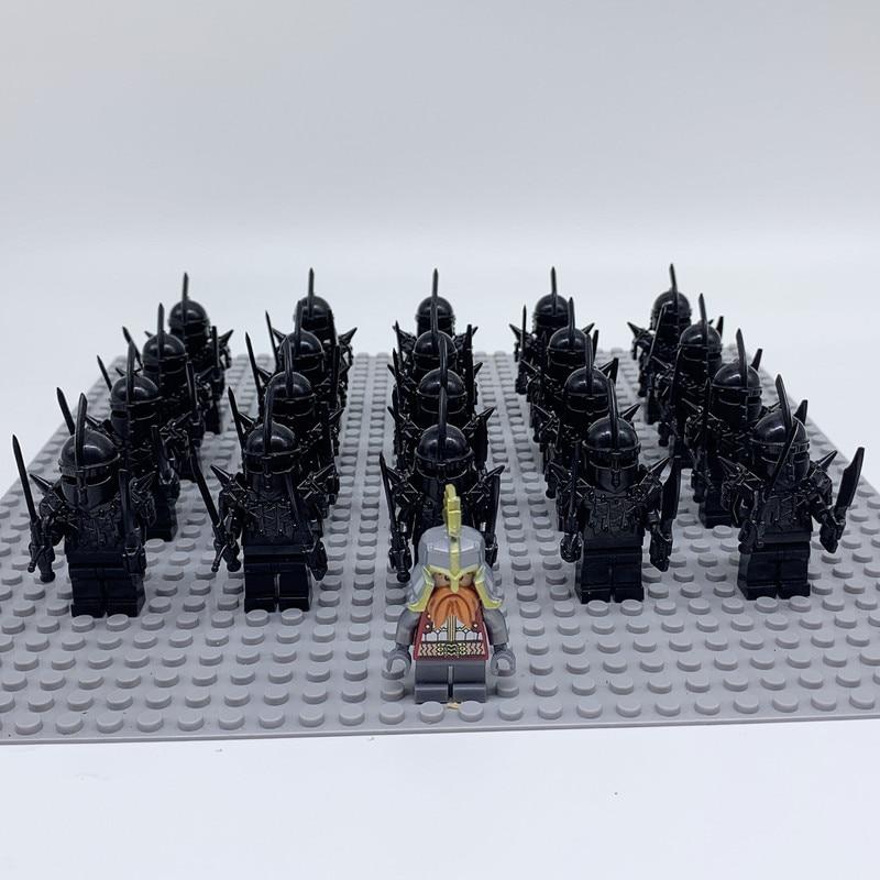 21pcs/lot Medieval Knight Game of Thrones Unsullied Action Figure Bricks Set Model Building Blocks Children Toys