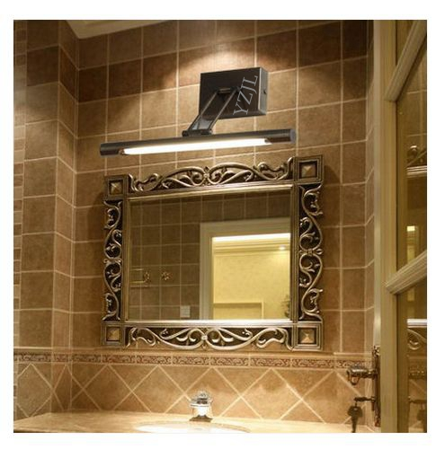 48CM Simple European mirror lamp vintage American mirror bathroom Cabinet mirror lighting LED waterproof Wall mirror lamp