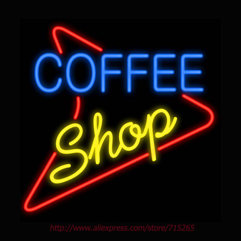 Coffee Shop Neon Sign Signage Board Bulbs Real GlassTube Handcrafted Recreation Windows  ...