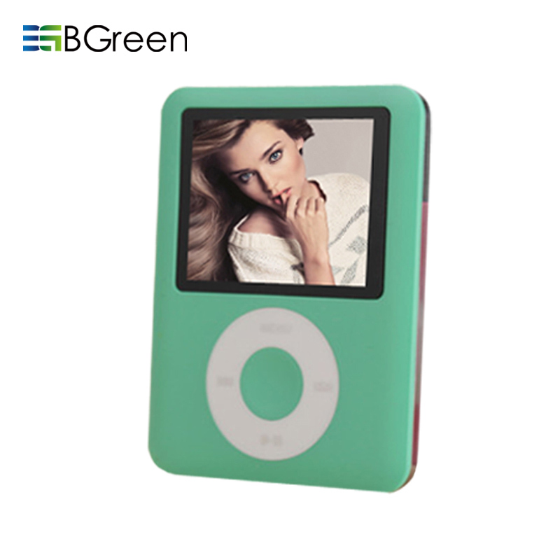 BGreen Real 8 GB Tela LCD MP3 Player 3 Gen Leitor de Ebook Visualizador de Fotos FM Radio Gravador de Voz Video Player