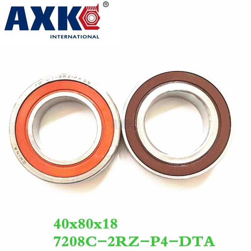 Axk 1 Pair 7208 7208c-2rz-p4-dta 40x80x18 Sealed Angular Contact Bearings Speed Spindle Bearings Cnc Abec 7 Engraving Machine mochu 7205 7205c 2rz p4 dta 25x52x15 2 sealed angular contact bearings speed spindle bearings cnc abec 7 high quality