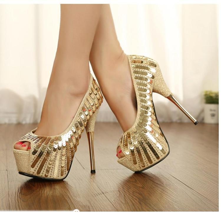 Popular Gold Platform Shoes-Buy Cheap Gold Platform Shoes lots