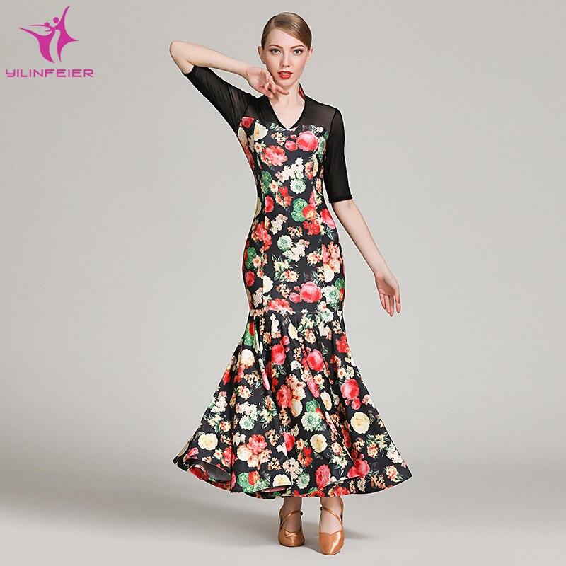 721c0700cb9 Kostüm Frauen Dame Party Schwarzes grey Modern Dance Wettbewerb Abend  Yilinfeier Kleid 1861 grün Erwachsene Tango Ballroom MSVzqUp