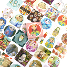 NEW Russian Doll Decorative Diy Diary Stickers Kawaii Planner Scrapbooking Sticky Stationery Escolar School Supplies 46 Pcs/box
