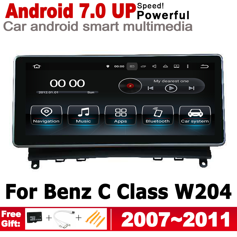<font><b>Android</b></font> car player for Mecerdes Benz C <font><b>W204</b></font> 2007~2011 NTG original Style 2 Din HD Screen <font><b>Autoradio</b></font> Bluetooth gps navigation map image
