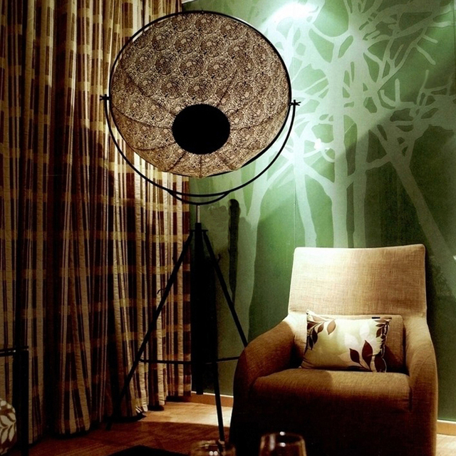 Retro Grade Satellite Photography Umbrella Lights Floor Lamps Modern Creative Lamp Living Room Bedroom Den