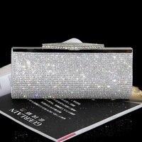 Women Diamond Clutch Evening Bag Luxury Bling Crystal Wedding Bridal Party Purse Banquet Rhinestone Dinner Bag Fashion Handbag