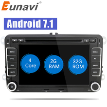 "Eunavi 7"" 2Din Android 7.1 8.1 car gps radio stereo car dvd player for VW GOLF 6 Polo Bora JETTA B6 PASSAT Tiguan SKODA OCTAVIA"