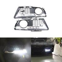 Фирменная Новинка LED Габаритные огни для BMW E90 E91 3 серии 2009 2012 м Tech м Мощность переднего бампера Туман daylights DRL