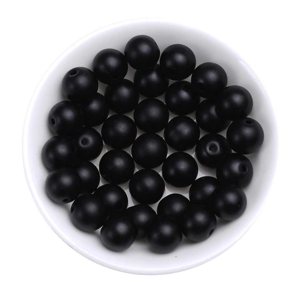 A Grade Natürlichen Stein Schwarz Matt Onyx Achate Runde Strang Lose Perlen Für Schmuck Machen Diy Armband 4-12 MM Drop Verschiffen