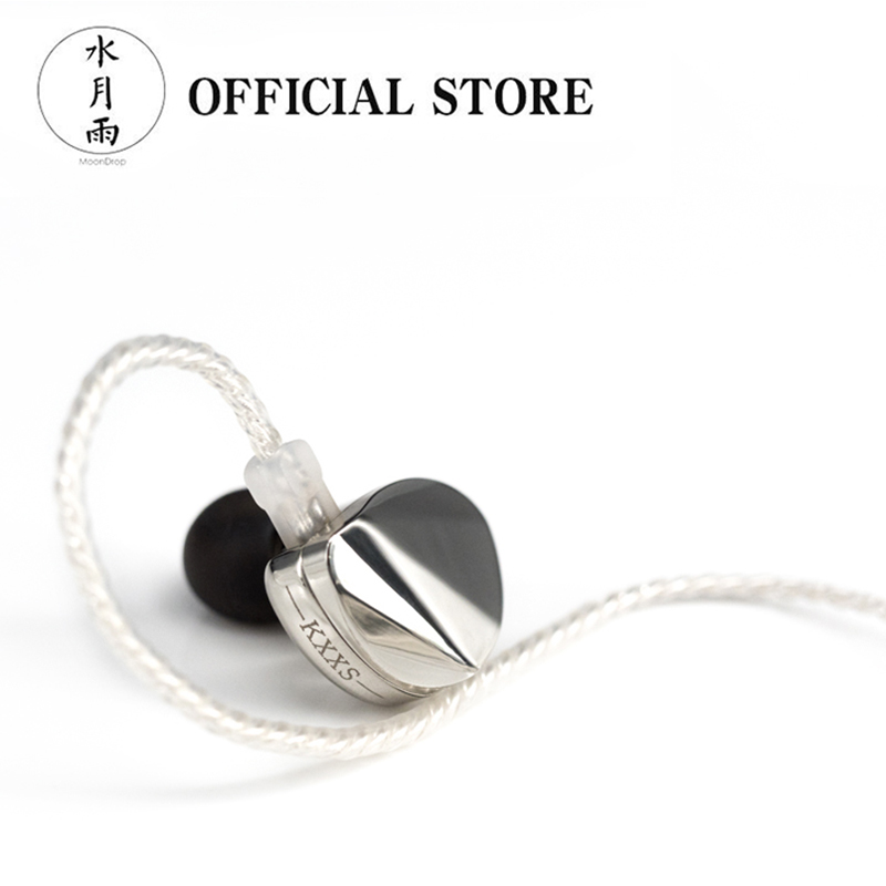 Moondrop KXXS Flagship Diamond Like Carbon Diaphragm Dynamic In ear Earphone with Detachable Cable