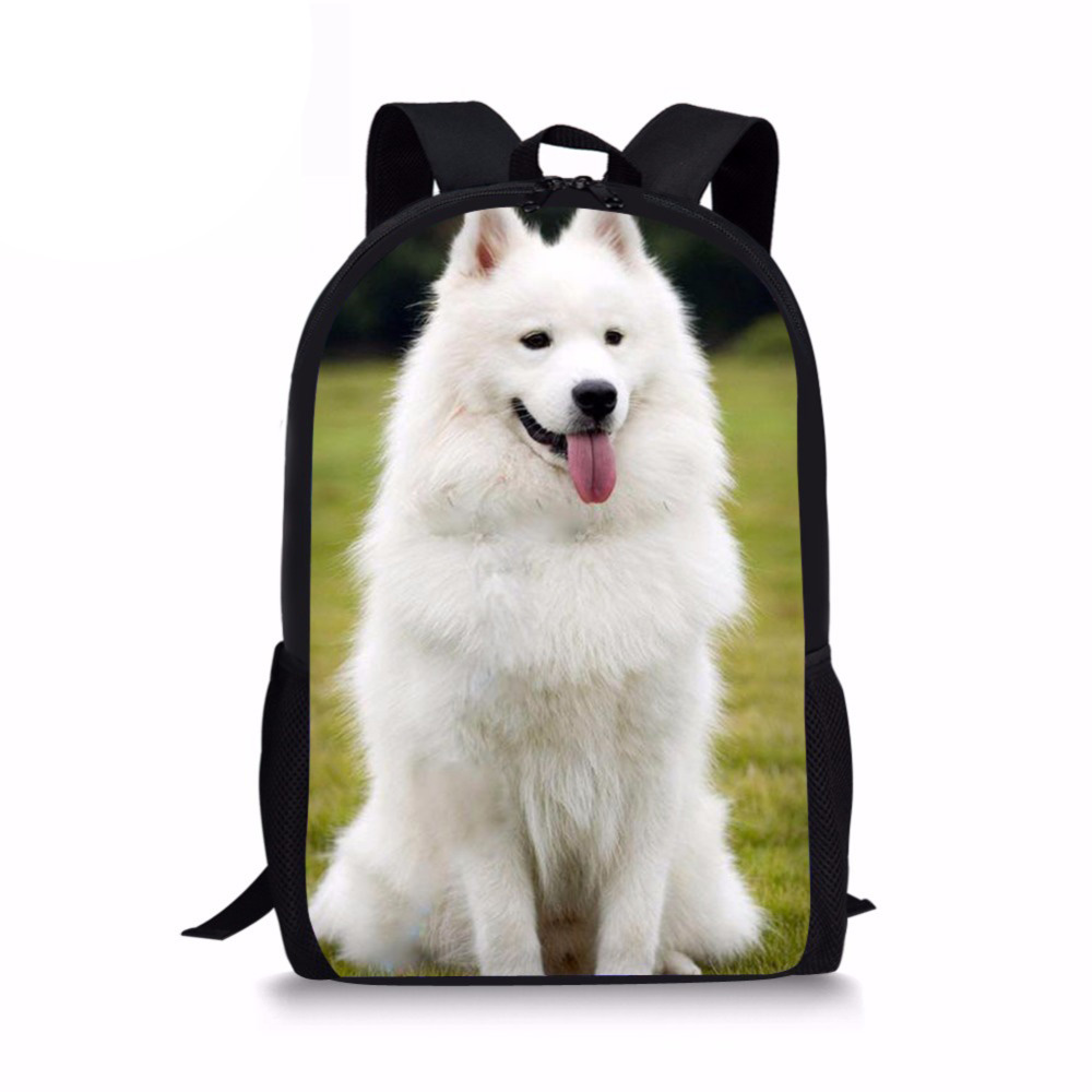 Customized Backpack for Girls Schnauzer Husky Printing Backpacks Children Canvas Back Pack Preppy Style Rucksack Bag School Bags