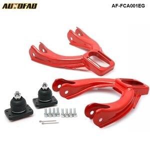 Dla Honda Acura czerwony regulowany przedni górny wahacz Camber Kit AF-FCA001EG