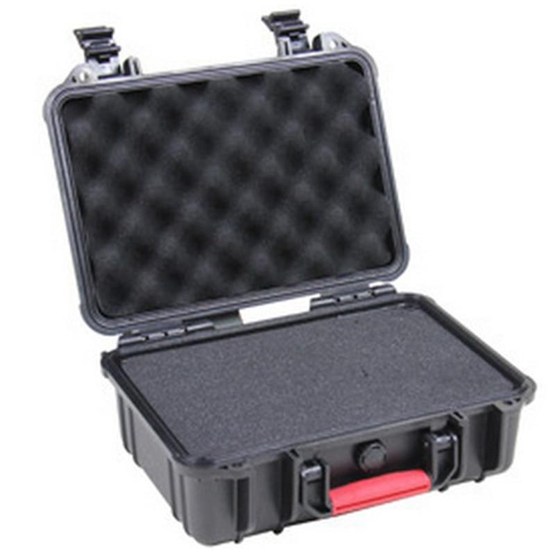 Tööriistakasti tolliboks Löögikindel suletud veekindel turvaümbris 335x236x126mm turvaseadmete kaamera kasti tööriistaümbris vahuga