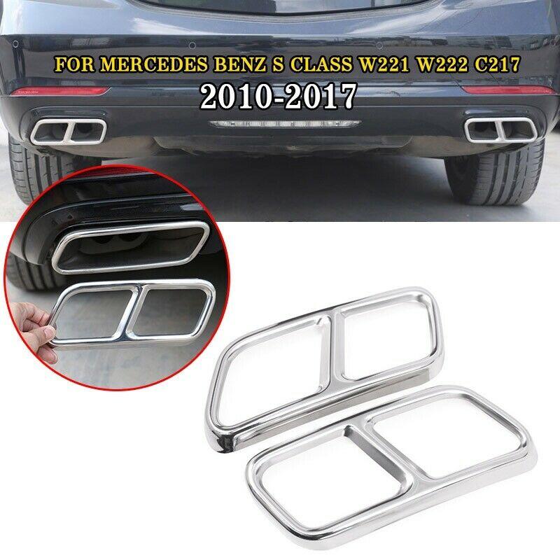 Pcmos 2019 nouvelle garniture de couvercle de tuyau d'échappement arrière pour Mercedes Benz classe S W221 C217 accessoires intérieurs moulures