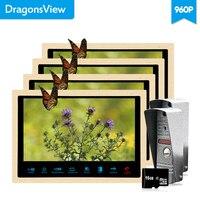 Dragonsview 10 Color Video Door Phone Villa Intercom System Home Intercom 4 Indoor Monitors 2 Outdoor Call Panel Motion Record