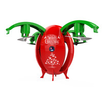 2 4G FoldableTransformable Egg Pocket Drone RC Quadcopter UAV Christmas Gift With LED Light Headless Mode