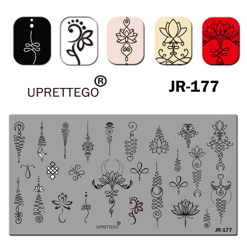 Image 3 - 2019 Stainless Steel Stamping Plate Template English Phrase Geometry Lady Vintage Floral Linear Animal Nail Tool JR171 180-in Nail Art Templates from Beauty & Health