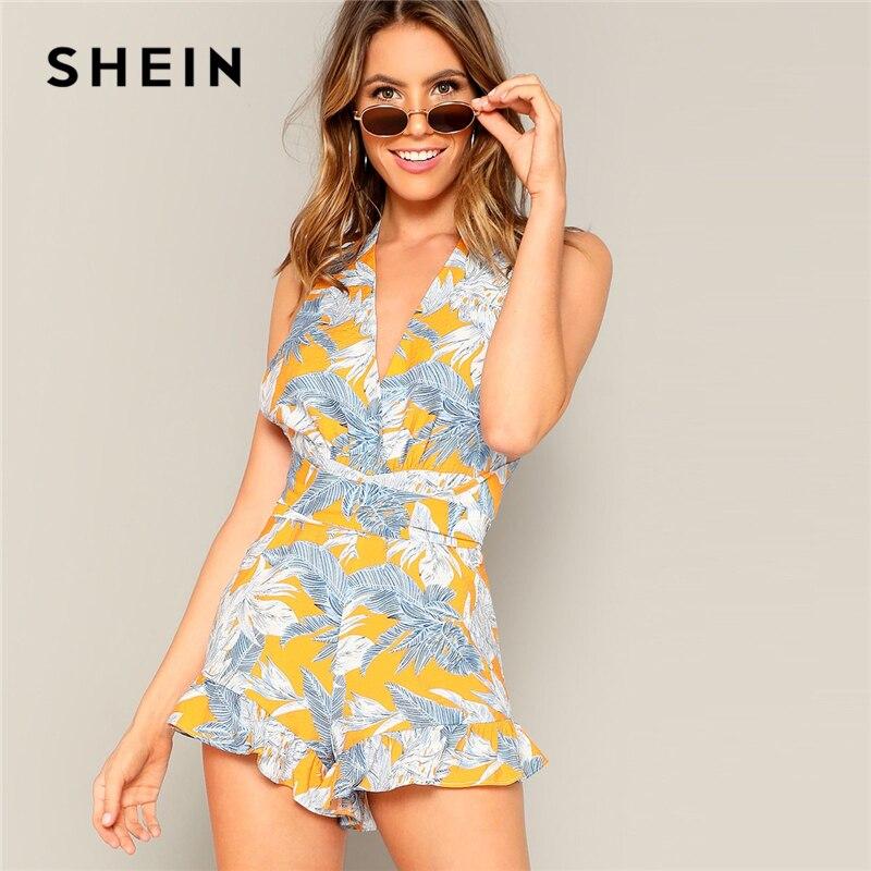 SHEIN Casual Beach Playsuit 07190104423