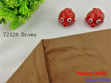 7242# brown thin Suede fabric for patchwork DIY sewing Sofa bags toys pillow colthes hat shoes material(100*150cm)