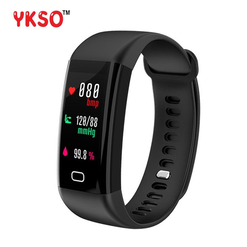 YKSO F07 Smart Band Color Screen IP68 Waterproof Heart Rate Fitness bracelet with Blood Pressure Oxygen Monitor Smart bracelet