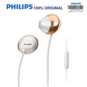 Image 2 - פיליפס SHE4205 אוזניות בס עם מיקרופון חוט שליטה ב אוזניות רעש ביטול אוזניות עבור גלקסי 8 בדיקה רשמיות