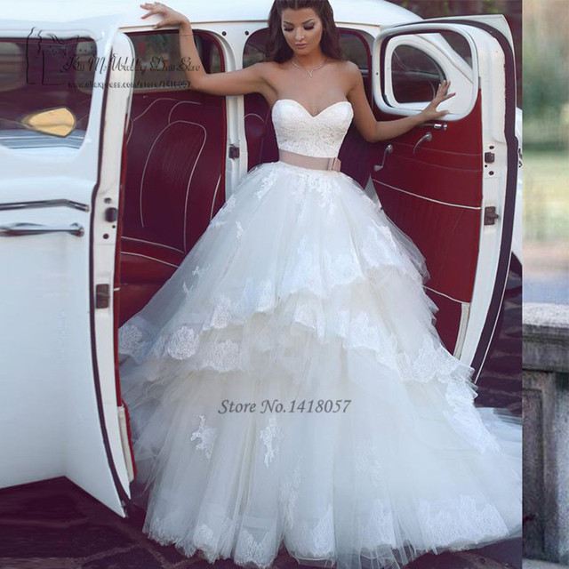 Latest Design Korean Wedding Dress Plus Size Vestidos de Noiva Lace ...