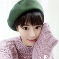 DT645 Womens GATSBY Hat Vintage Winter Wool Beret Hats Winter Beanie Hat Plain Casquette chapeu feminino Female Winter Hat Baret