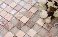 LSTC006 Crystal Glass Mosaic Tiles For Kitchen Backsplash Tile Bathroom Shower Home Improvement Fireplace Tile